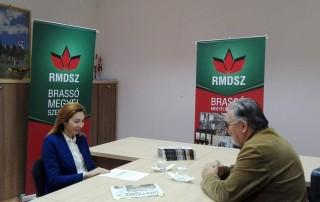 Ambrus Izabella képviselőjelölt a Brassai Magyar Adásban, október 10.